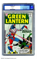 Silver Age (1956-1969):Superhero, Green Lantern #1 (DC, 1960) CGC VF 8.0 White pages. Flush with the success of the Flash, DC took the lead in the early Silve...