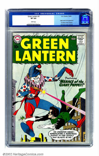 Green Lantern #1 (DC, 1960) CGC VF 8.0 White pages. Flush with the success of the Flash, DC took the lead in the early S...