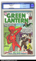 Silver Age (1956-1969):Superhero, Green Lantern #13 (DC, 1962) CGC VF/NM 9.0 Off-white pages. The Flash joins GL in this issue, but somehow the event turns in...