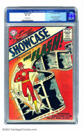 Silver Age (1956-1969):Superhero, Showcase #4 (DC, 1956) CGC VF- 7.5 Off-white pages. Generally regarded as inaugurating the Silver Age of comics, Carmine Inf...