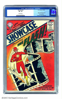 Showcase #4 (DC, 1956) CGC VF- 7.5 Off-white pages. Generally regarded as inaugurating the Silver Age of comics, Carmine...