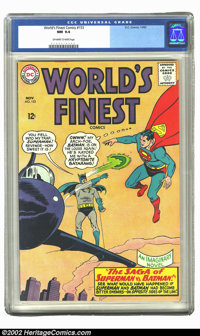 World's Finest Comics #153 (DC, 1965) CGC NM 9.4 Off-white to white pages. It seems like mid-1960s DCs just don't surfac...