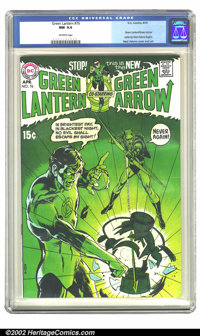 Green Lantern #76 (DC, 1970) CGC NM 9.4 Off-white pages. Many people consider this the first book of the Bronze Age. Nea...
