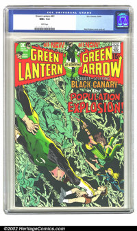 Green Lantern #81 (DC, 1970) CGC NM+ 9.6 White pages. The eye-catching covers Neal Adams was creating for the series sti...