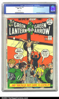 Bronze Age (1970-1979):Superhero, Green Lantern #89 (DC, 1972) CGC NM+ 9.6 White pages. The final issue of the Neal Adams series featured another creative cov...