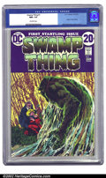 Bronze Age (1970-1979):Horror, Swamp Thing #1 (DC, 1972) CGC NM+ 9.6 Off-white pages. Undervalued and ignored for most of the '80s and '90s, Bronze Age com...