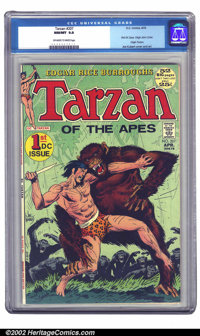 Tarzan #207 (DC, 1972) CGC NM/MT 9.8 Off-white to white pages. Typically moving Joe Kubert cover on this first DC issue...