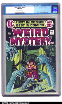 Weird Mystery Tales #1 (DC, 1972) CGC NM+ 9.6 Off-white to white pages. Striking Kaluta cover with interior contribution...