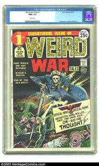 Weird War Tales #1 (DC, 1971) CGC NM+ 9.6 White pages. Joe Kubert made his mark on DC war books with his legendary work...