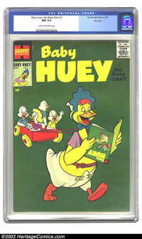 Baby Huey, the Baby Giant #1 File copy (Harvey, 1956) CGC NM 9.4 Cream to off-white pages. This is the highest CGC-grade...