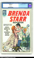 Silver Age (1956-1969):Romance, Brenda Starr #1 (Dell, 1963) CGC NM 9.4 Off-white pages. Here's agreat book with a cool cover showing Brenda Starr about to...
