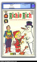 Silver Age (1956-1969):Humor, Richie Rich #3 File copy (Harvey, 1961) CGC NM 9.4 Cream to off-white pages. Richie Rich builds a snowman just like we all d...