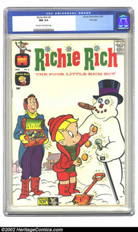 Richie Rich #3 File copy (Harvey, 1961) CGC NM 9.4 Cream to off-white pages. Richie Rich builds a snowman just like we a...