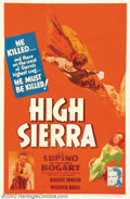 """Movie Posters:Film Noir, High Sierra (Warner Brothers, 1941). One Sheet (27"""" X 41"""").Humphrey Bogart had been a """"supporting player"""" for years on the ..."""