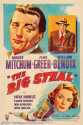 """Movie Posters:Film Noir, Big Steal (RKO, 1949). One Sheet (27"""" X 41""""). Robert Mitchum andthe beautiful Jane Greer re-teamed from their """"Out of the P..."""
