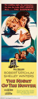 """Night of the Hunter (United Artists, 1955). Insert (14"""" X 36""""). """"Let me tell you the story of brother lov..."""