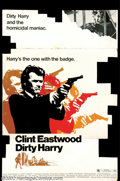 """Movie Posters:Action, Dirty Harry (Warner Brothers, 1971). Standee. Clint Eastwood's""""Dirty Harry"""" received his nickname since he took on every """"d..."""