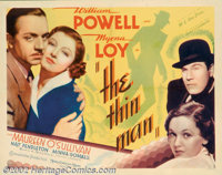"Thin Man, The (MGM, 1934). Half Sheet (22"" X 28""). Director Woody Van Dyke shot this film in two weeks and it..."