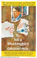 """Movie Posters:Drama, To Kill a Mockingbird (Universal, 1963).) One Sheet (27"""" X 41"""").Harper Lee's endearing novel was brought to the screen by H..."""