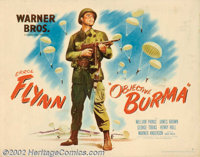 "Objective Burma (Warner Brothers, 1945). Half Sheet (22"" X 14""). One of the great war films of all time, this..."
