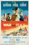 """Movie Posters:Drama, War and Peace (Paramount, 1956). One Sheet (27"""" X 41""""). AudreyHepburn stars in this epic version of Tolstoy's classic novel..."""