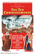 "Movie Posters:Drama, The Ten Commandments (Paramount, 1956). One Sheet (27"" X 41""). Style A. This spectacular poster captures the highlight of Ce..."