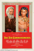 "Movie Posters:Drama, Ten Commandments, The (Paramount, 1956). One Sheet (27"" X 41"") Style B. This poster often called the ""Karsh Photo"" style, is..."
