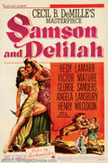 "Movie Posters:Adventure, Samson and Delilah (Paramount, 1949). One Sheet (27"" X 41""). VictorMature as the strongman Samson, loses his locks of hair ..."