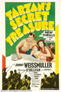 """Movie Posters:Adventure, Tarzan's Secret Treasure (MGM, 1941). One Sheet (27"""" X 41""""). StyleD. Released in 1941, this was the next-to-last entry in t..."""
