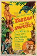 """Movie Posters:Adventure, Tarzan and the Huntress (RKO, 1947). One Sheet (27"""" X 41""""). One ofthe most popular of the later RKO Tarzan series with Weis..."""