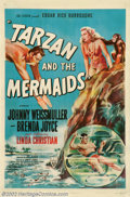 "Movie Posters:Adventure, Tarzan and the Mermaids (RKO, 1948). One Sheet (27"" X 41"") .Thiswas the last Tarzan film that Johnny Weissmuller would make..."