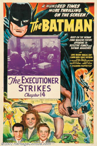 """Batman, The (Columbia, 1943). One Sheet (27"""" X 41""""). Batman made his motion picture debut in Columbia's chapte..."""