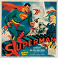 "Movie Posters:Serial, ""Superman"" (Columbia, 1948). Six Sheet (81"" X 81"") After almost ten years Columbia studios was able to negotiate a deal with..."