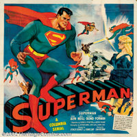"""""""Superman"""" (Columbia, 1948). Six Sheet (81"""" X 81"""") After almost ten years Columbia studios was able..."""