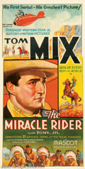 """Movie Posters:Serial, Miracle Rider, The (Mascot, 1935). Three Sheet (41"""" X 81""""). Thoughthe One Sheets for this title show up from time to time, ..."""