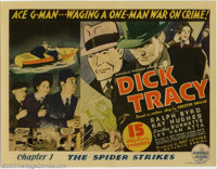 """Dick Tracy (Republic, 1937). Title Lobby Card (11"""" X 14""""). Republic Studios produced some of the best serials..."""