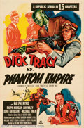 """Movie Posters:Serial, Dick Tracy vs. the Phantom Empire (Republic, R-1952). One Sheet(27"""" X 41""""). Republic Studios found that they had a goldmine..."""