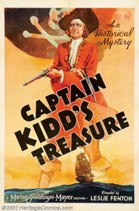 "Captain Kidd's Treasure (MGM, 1938). ). One Sheet (27"" X 41""). There's been a lot of interest in the career of..."