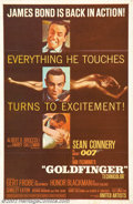 """Movie Posters:Action, Goldfinger (United Artists, 1964). One Sheet (27"""" X 41""""). The third installment in the series found Bond up against a fiendi..."""