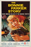 "Bonnie Parker Story (American International, 1958). One Sheet (27"" X 41""). This cheap AIP feature is an oddity..."