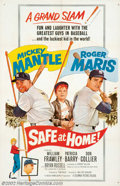 """Movie Posters:Sports, Safe at Home (Columbia, 1962). One Sheet (27"""" X 41""""). After Roger Maris's amazing season of hitting 62 home runs and wiping ..."""