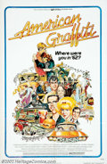 "Movie Posters:Comedy, American Graffiti (Universal, 1973). One Sheet (27"" X 41""). Themovie asked, ""Where were you in '62?"" and was answered by ev..."