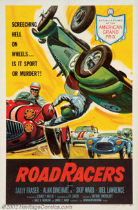 """Road Racers (American International, 1959). One Sheet (27"""" X 41""""). This was another low budget AIP drive-in fi..."""