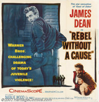"Rebel Without a Cause (Warner Brothers 1955). Six Sheet (81"" X 81""). The title alone summed up a generation of..."