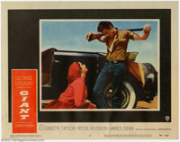 "Giant (Warner Brothers, 1956). Lobby Cards (2) (11"" X 14""). James Dean made an indelible impression on the cin..."