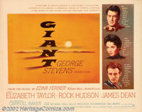"""Giant (Warner Brothers, 1956). Half Sheet (22"""" X 28""""). This sprawling epic tale of a Texas family was a blockb..."""