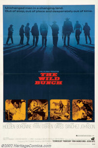 """The Wild Bunch (Warner Brothers, 1969). One Sheet (27"""" X 41""""). A group of desperadoes, who no longer fit into..."""