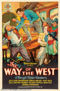 "Movie Posters:Western, Way of the West (Superior Talking Pictures, 1934). One Sheet (27"" X41"") This poster is the reason for the desirability of t..."