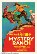 "Movie Posters:Western, Mystery Ranch (Fox, 1932). One Sheet (27"" X 41""). Fox produced somebeautiful stone-litho style posters in the early Thirtie..."