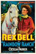 """Movie Posters:Western, Rainbow Ranch (Monogram, 1933). One Sheet (27"""" X 41""""). Rex Bellrides to the rescue of Rainbow Ranch, where the local villai..."""